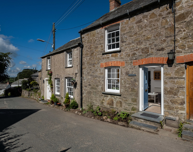 The charming stone-front of Stokes Cottage