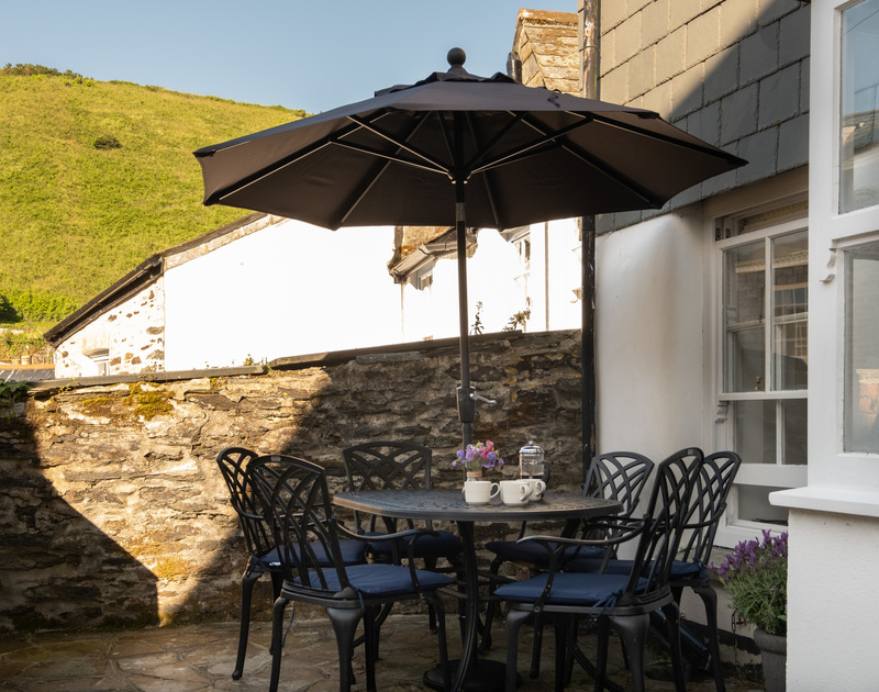 Kipper Cottage's patio - the perfect spot for al fresco dining