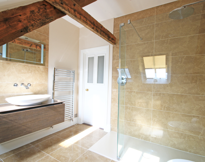 The 2nd floor family bathroom, complete with walk-in shower