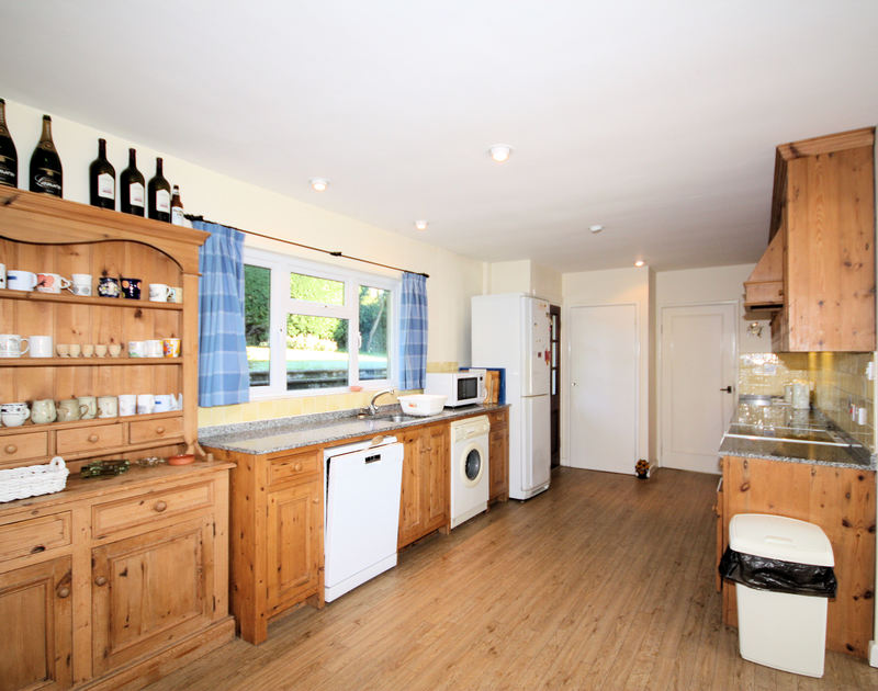The kitchen at Tregillan, a self catering holiday house to rent in Rock, North Cornwall.