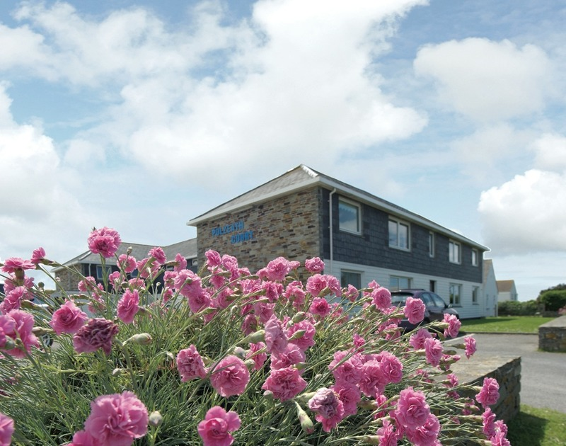 The  exterior view of Polzeath Court 4, a self catering holiday apartment in New Polzeath, Cornwall.