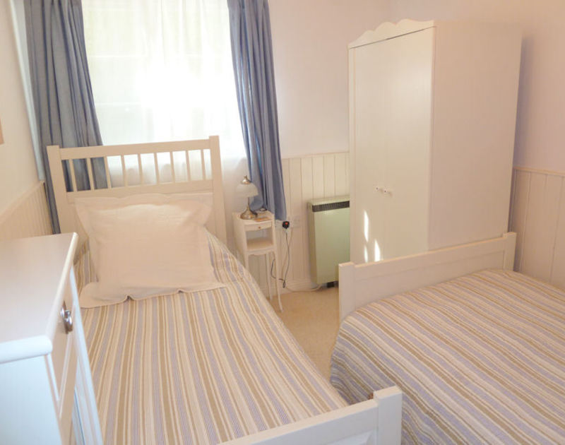 Twin bedroom in Bosun's Locker, a self catering holiday cottage to rent in Port Isaac, Cornwall.