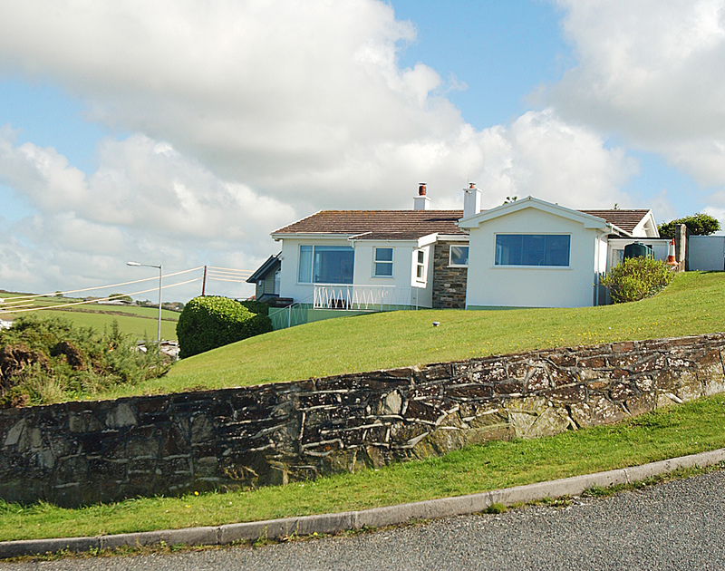 The exterior of Tristram Steps, a self catering holiday rental in Polzeath, North Cornwall.
