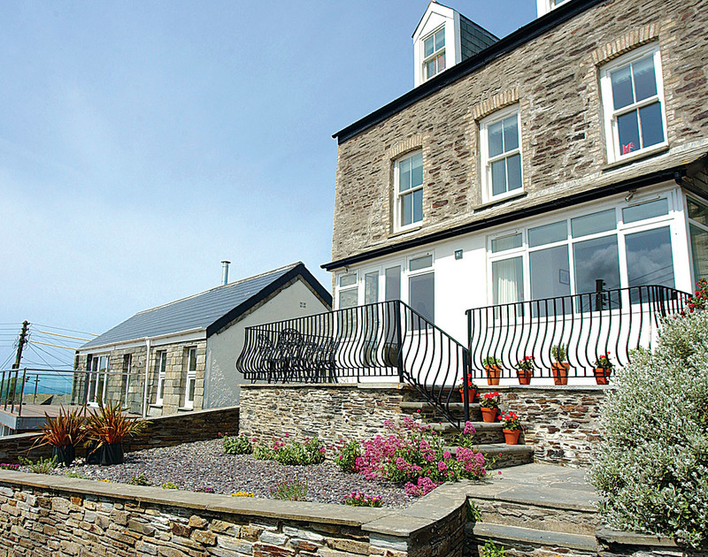 Outside view of Stowaway, a spacious ground floor holiday apartment in Port Isaac, North Cornwall.