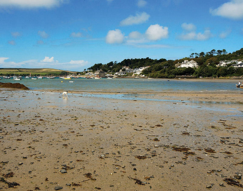 A view of Porthilly beach, just a stone's throw from Little Tides, a charming holiday rental in Rock, Cornwall