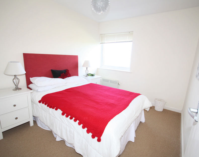 The double bedroom of Westward 7, a coastal holiday apartment in Polzeath, Cornwall