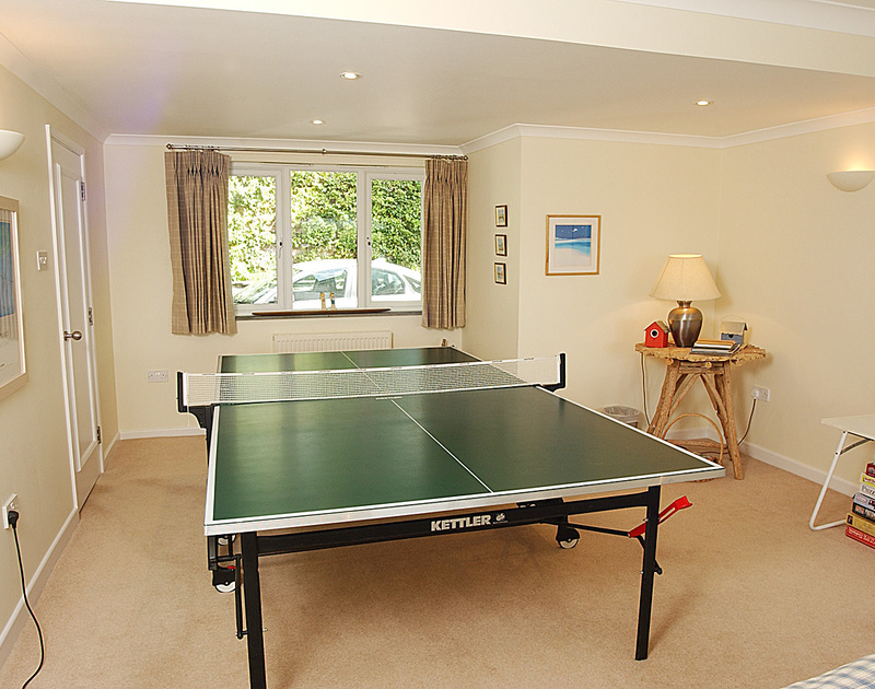 Table tennis in the games room of September Corner, holday rental in Rock, Cornwall