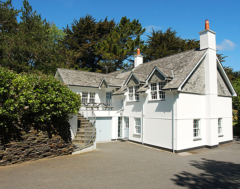View of the exterior of Old Brea Coach House, a superb self-catering holiday house to rent in the grounds of St Enodoc Golf course near Daymer Bay, North Cornwall