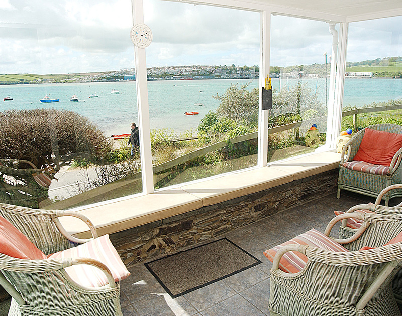 Extensive views of Padstow and the Camel Estuary from the sunroom at Cocklebar, holiday cottage in Rock, Cornwall