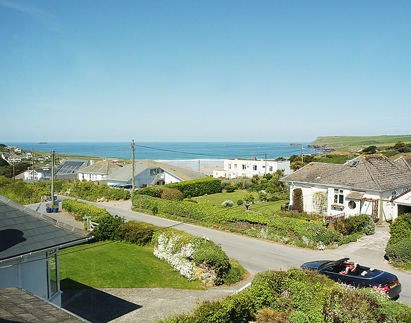 Superb sea and coastal views from The Point, a holiday house to rent in Polzeath, Cornwall