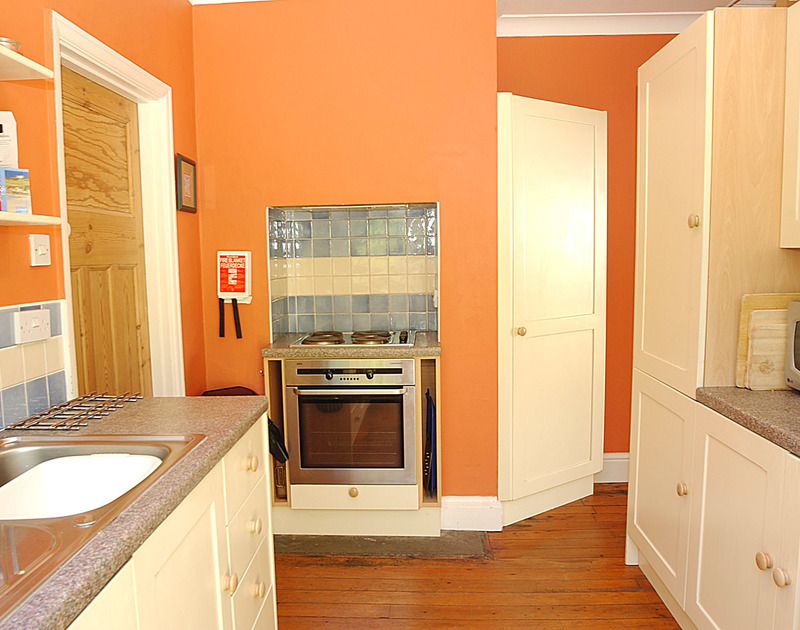 The kitchen in Burwyn, a coastal, self catering holiday house to rent in Polzeath, North Cornwall.