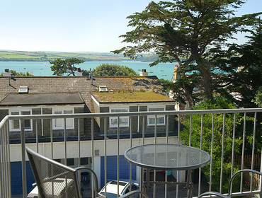 Far-reaching Camel Estuary views from the balcony of Slipway 9, holiday cottage in Rock, Cornwall