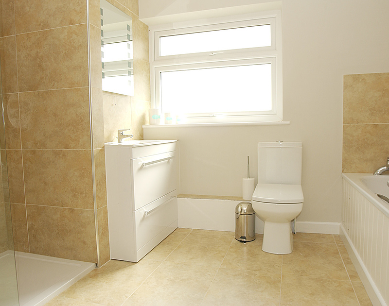 Luxurious bathroom with a large shower at Pebblestones, a holiday cottage in Port Isaac, Cornwall,