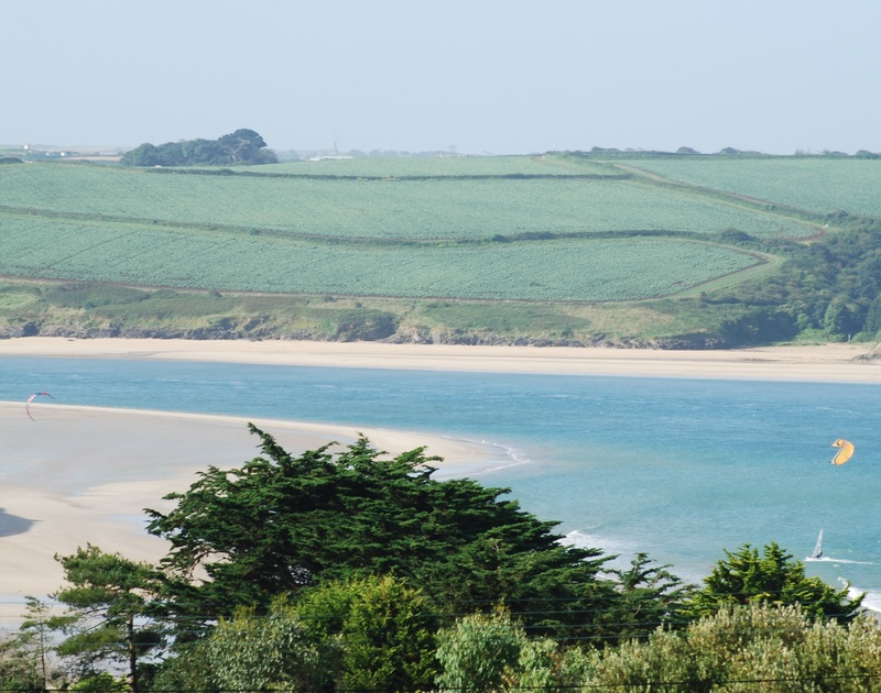 The far reaching Camel Estuary views from Sandlings, a coastal, holiday retreat set above Daymer Bay in Cornwall.