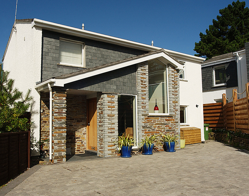 The exterior of Lyonesse holiday home in rock, North Cornwall with ample parking