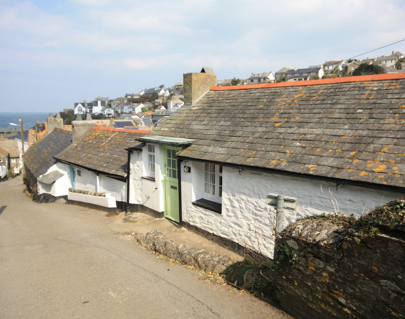 Exterior image with views to the harbour from holiday cottage Crows Nest in Port Isaac a pretty fishing village in North Cornwall