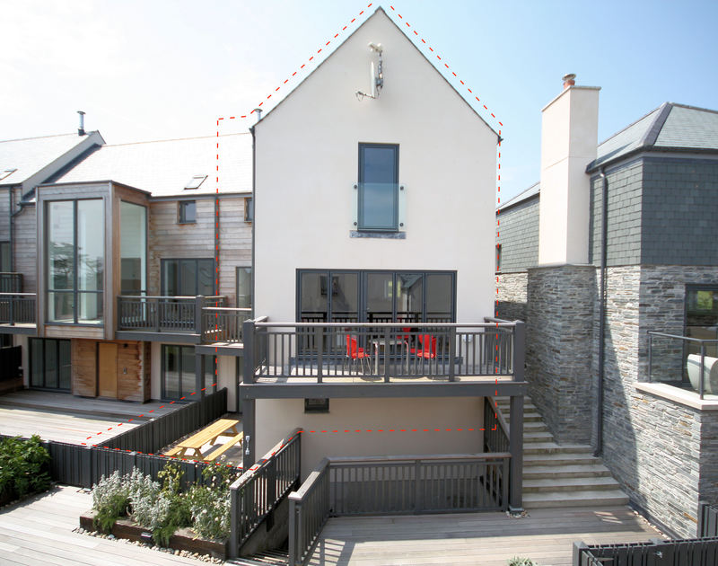 A front of house view of Carnweather, a pet friendly, holiday house to rent in Polzeath, Cornwall.