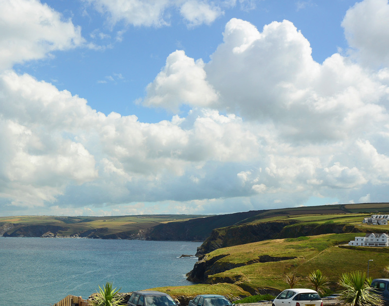 Stunning sea and coastal view from Rock Lobster, a self catering holiday house to rent in Port Isaac, Cornwall.