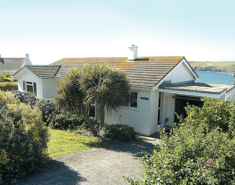 The exterior view of Trevega, a holiday house with sea views at Polzeath, North Cornwall