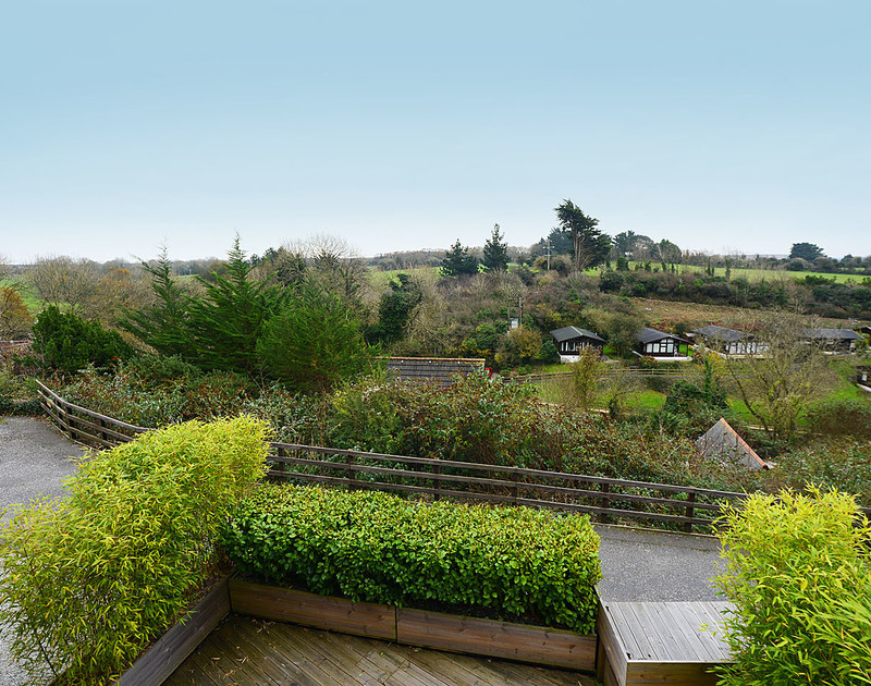 The charming rural views from 7, Sandy Hills, a family holiday house with stylish decor and spacious interior situated in a tucked away position in Rock, north Cornwall.