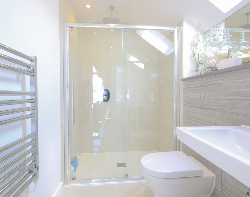 The modern master ensuite shower room in 2 The Sands, a luxury self catering holiday home in Polzeath, Cornwall.