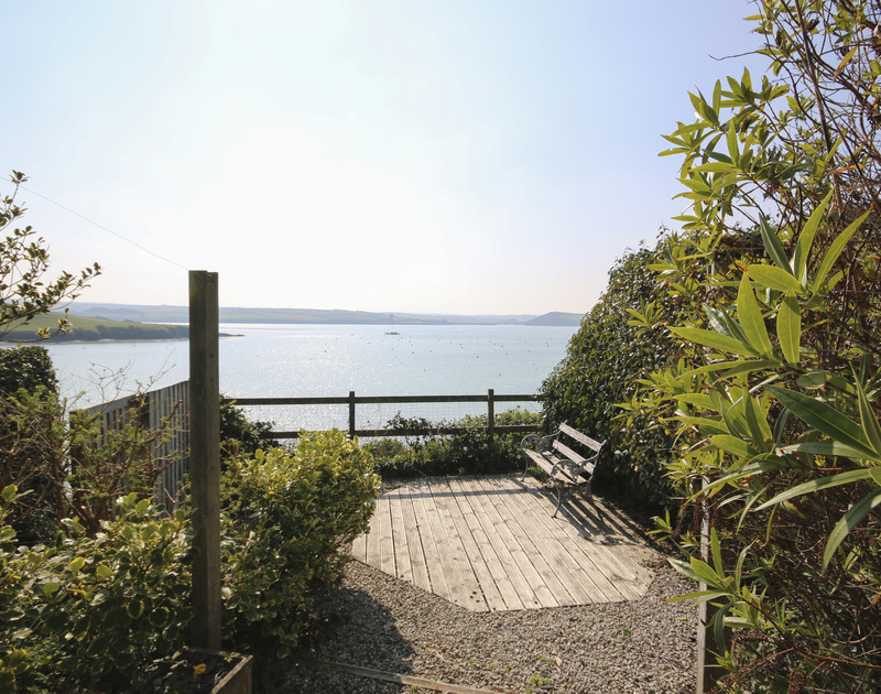 Stunning seaviews from the terraced garden of Little Strand, a holiday rental in Rock, Cornwall