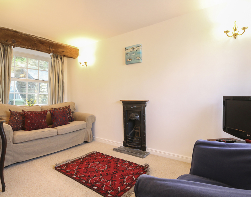 Snug sitting room in self catering holiday rental Church Hill Flat in Port Isaac, a popular fishing village in North Cornwall