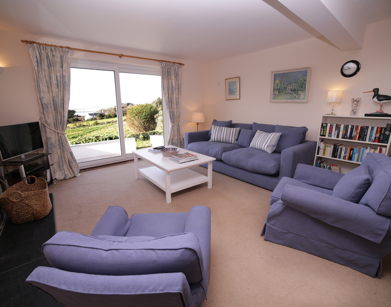 The charming sitting room of Seaworthy, a holiday house within walking distance of Daymer Bay, North Cornwall.