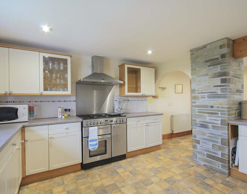 The light and well equipped kitchen at Seaworthy, a holiday cottage near Daymer Bay, Cornwall