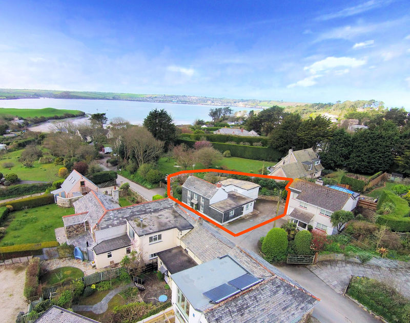 The exterior view of holiday house St Michaels and it's proximity to the Camel Estuary in Porthilly, Rock,Cornwall