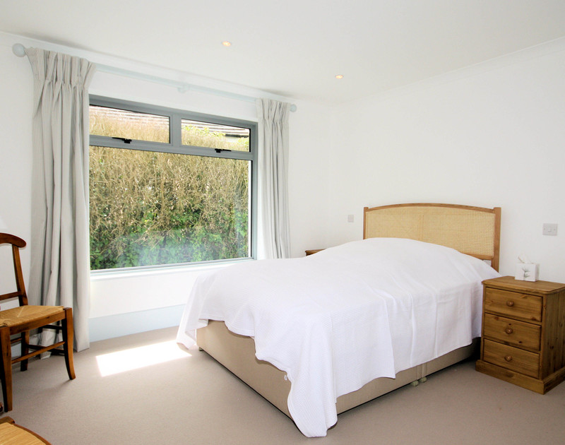 The light double bedroom in Yaffles, a self catering holiday house to rent in Daymer Bay, North Cornwall.