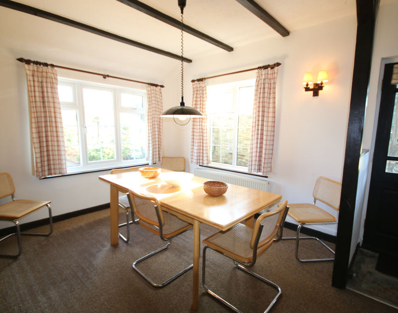 The dining room in pretty converted barn Little Pityme. a self catering, pet friendly holiday house to rent in Rock, North Cornwall.