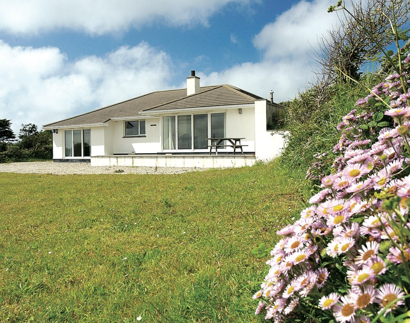 The garden at Turnstones, a self catering holiday house to rent in Daymer Bay, North Cornwall.