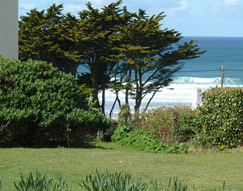 Glorious seaviews from Rock Pipit, a fantastic self-catering holiday house at Polzeath, Cornwall
