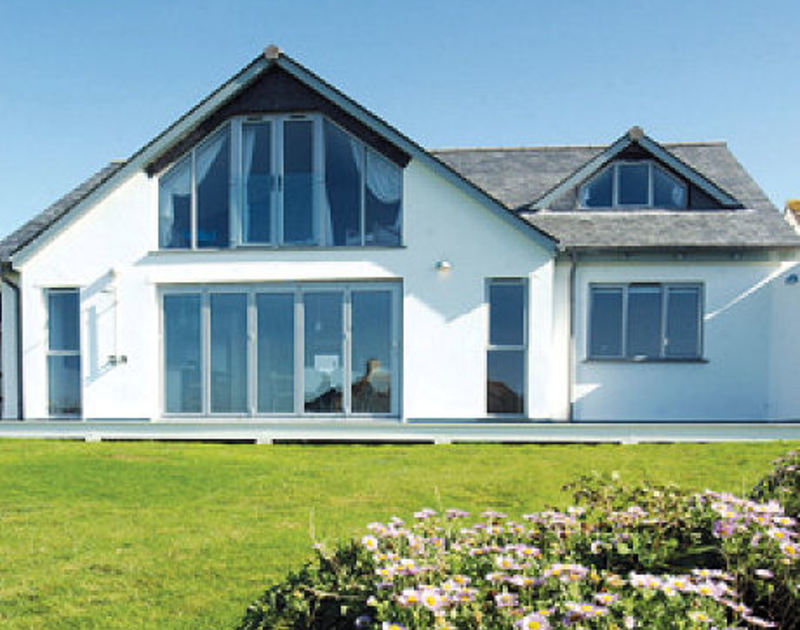 The exterior of Rock Pipit, a fantastic self-catering holiday house at Polzeath, North Cornwall