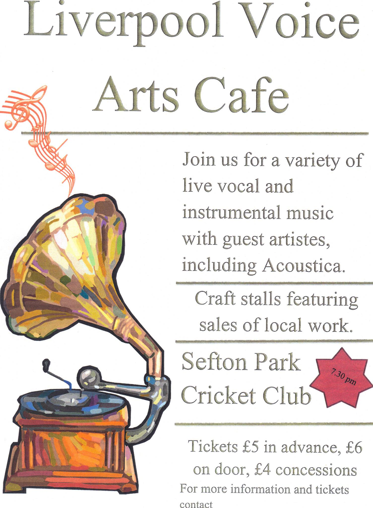 Arts Cafe Poster by Corinne