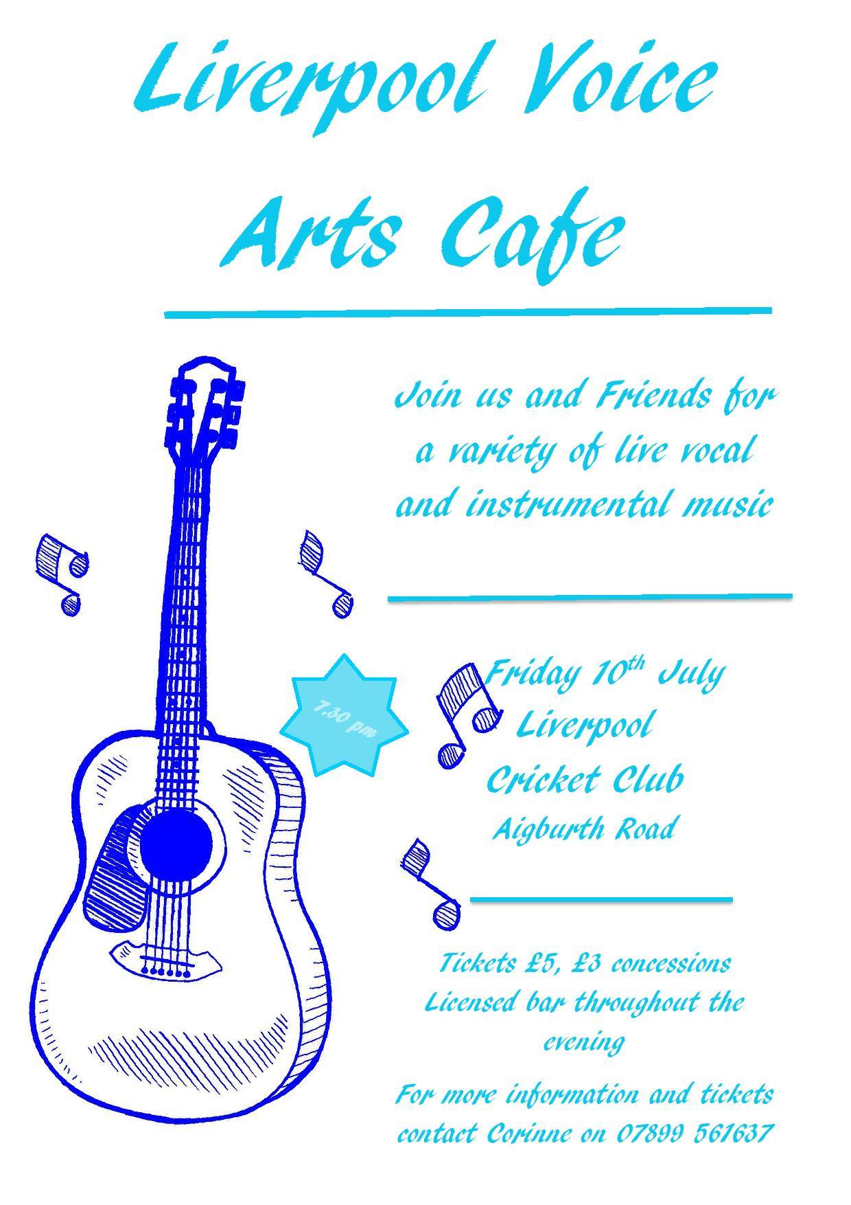 Liverpool Voice Arts Cafe poster by Corinne