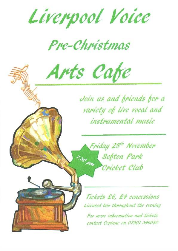 Pre Christmas Arts Cafe poster by Corinne