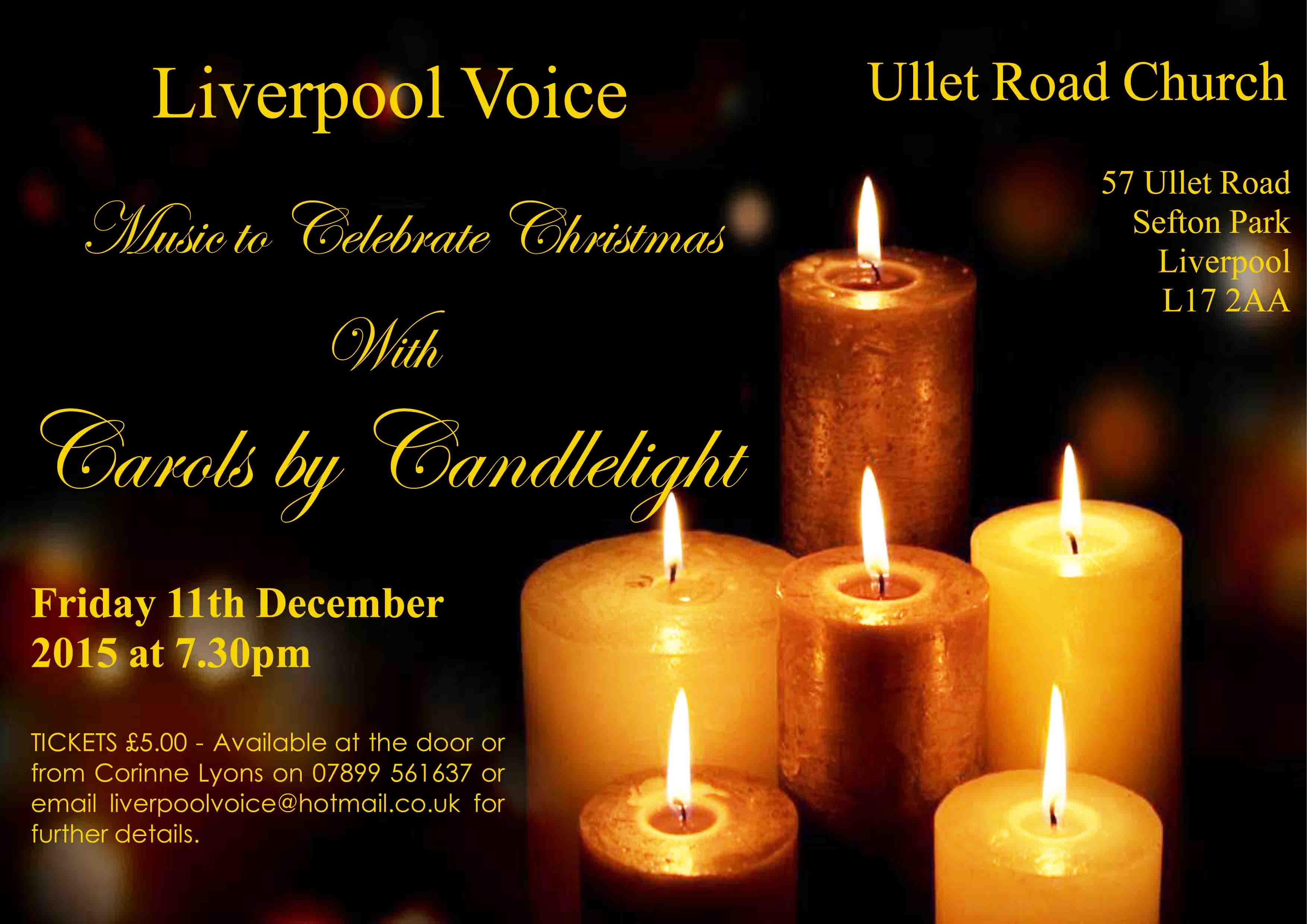 Carols by Candlelight poster by Chris Williams