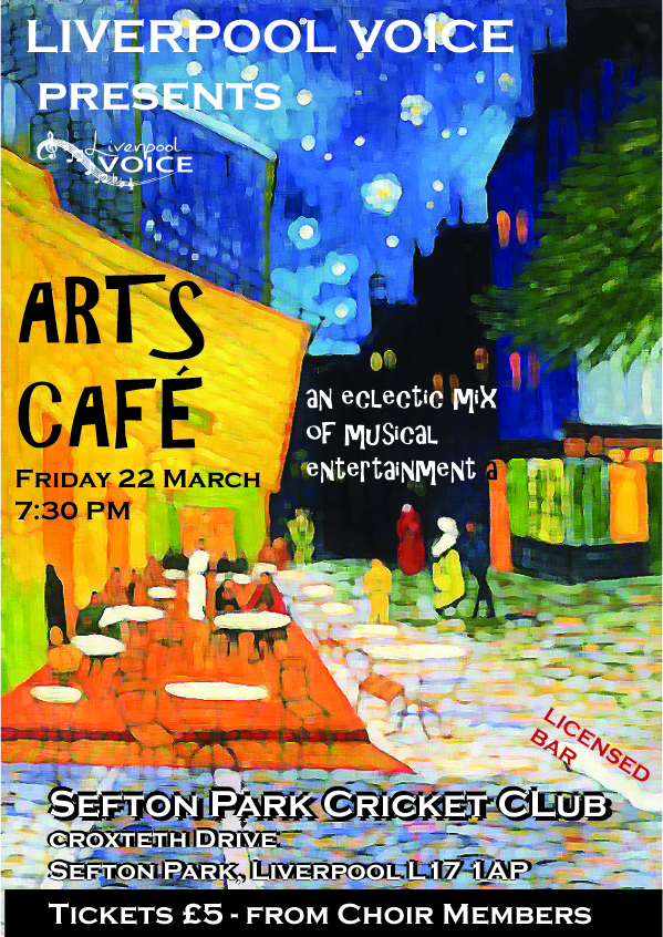 Arts Cafe poster by Chris Williams