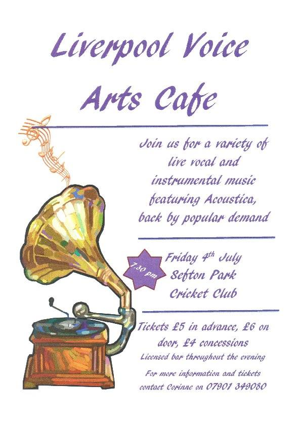 Arts Cafe poster by Corinne Lyons