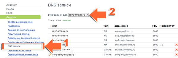 Иллюстрация к статье: Привязка домена и поддомена в панели majordomo.ru