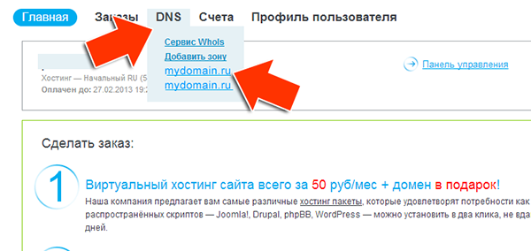 Иллюстрация к статье: Привязка домена и поддомена в панели ihc.ru