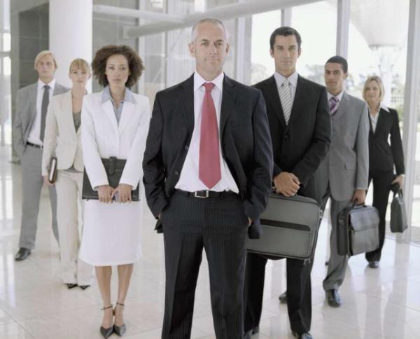 Бизнес-команда, готовая к великим делам