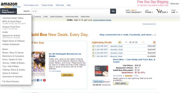 Amazon, Gold Box