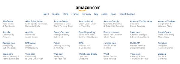 Amazon, десятки предложений