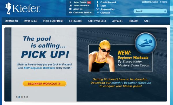 Навигация сайта Kiefer Swimwear