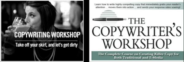 2 рекламных плаката курсов копирайтинга
