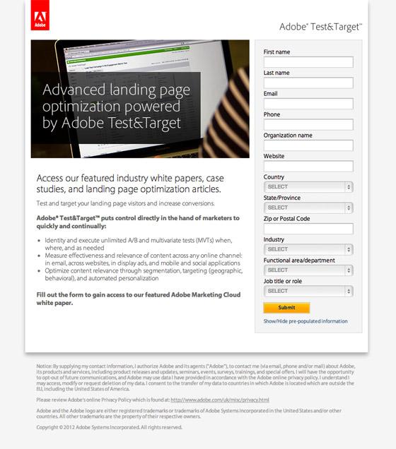 Adobe Test & Target
