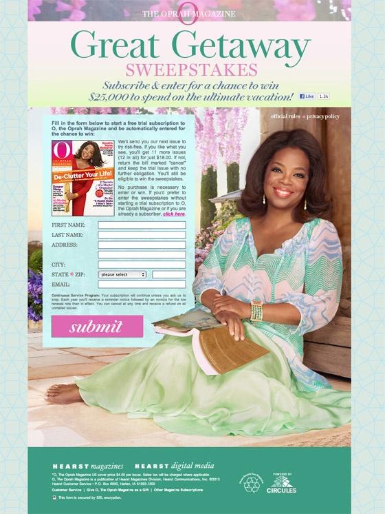 Oprah Sweepstakes